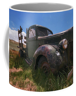 Coffee Mug featuring the photograph Bodie Truck by Sharon Seaward