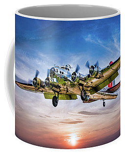 Coffee Mug featuring the photograph Boeing B17g Flying Fortress Yankee Lady by Chris Lord