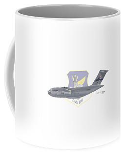 Coffee Mug featuring the digital art Boeing C-17 Globemaster IIi Mcguire Afb by Arthur Eggers