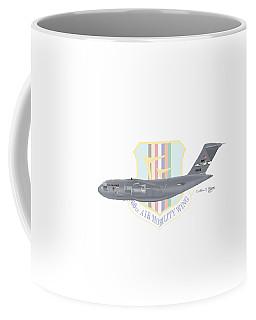 Coffee Mug featuring the digital art Boeing C-17 Globemaster IIi Travis Afb by Arthur Eggers