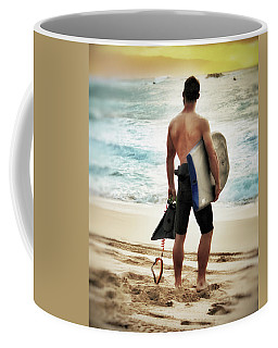 Boggie Boarder At Waimea Bay Coffee Mug