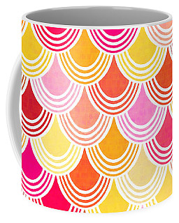 Bohemian Fish Scale Pattern In Golds And Pinks Coffee Mug