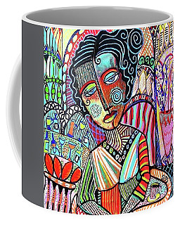 Bohemian Wine Cafe Woman Coffee Mug