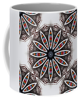 Boho Flower Coffee Mug by Mo T