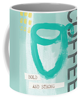 Bold And Strong In Blue- Art By Linda Woods Coffee Mug