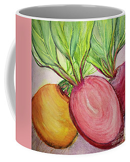 Coffee Mug featuring the painting Bold Beets by Kim Nelson