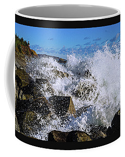 Coffee Mug featuring the photograph Bold Coast Of Down East Maine by Marty Saccone