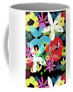 Bold Floral Thank You Card- Design By Linda Woods Coffee Mug