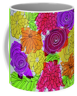 Coffee Mug featuring the painting Bold Flowers by Kim Nelson