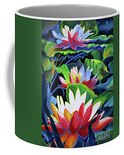 Coffee Mug featuring the painting Bold Lilypads by Kathy Braud