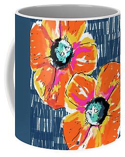 Bold Orange Poppies- Art By Linda Woods Coffee Mug