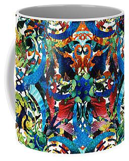 Bold Pattern Art - Color Fusion Design 8 By Sharon Cummings Coffee Mug