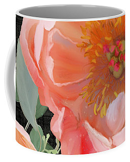 Coffee Mug featuring the painting Bold Peony Seeded Eucalyptus Leaves by Audrey Jeanne Roberts