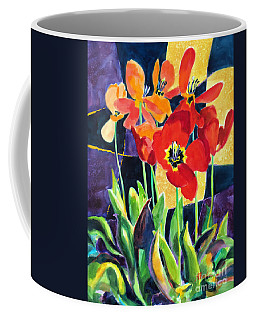 Bold Quilted Tulips Coffee Mug