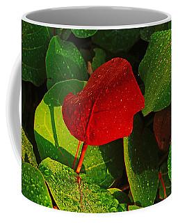 Bold Red Sea Grape Leaf Coffee Mug