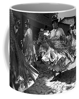 Bolivian Dance Black And White Coffee Mug