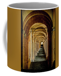 Coffee Mug featuring the photograph Bologna, Italy - Stepped Portico by Mark Forte