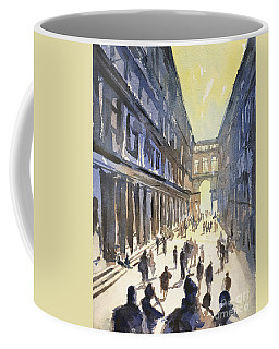 Coffee Mug featuring the painting Bologna Sunset- Italy by Ryan Fox