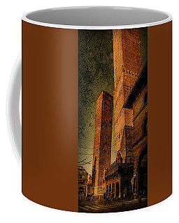 Coffee Mug featuring the photograph Bologna, Italy - The Two Towers by Mark Forte