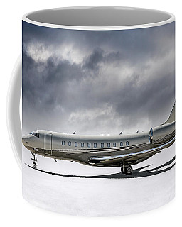 Coffee Mug featuring the digital art Bombardier Global 5000 by Douglas Pittman