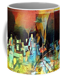 Coffee Mug featuring the photograph Bonfire Party by Karen Newell