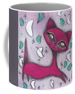 Bonnie Cat Coffee Mug by Abril Andrade Griffith