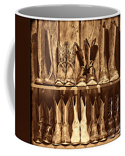 Boot Rack Coffee Mug by American West Legend By Olivier Le Queinec