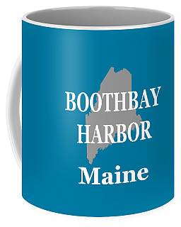 Coffee Mug featuring the photograph Boothbay Harbor Maine State City And Town Pride  by Keith Webber Jr