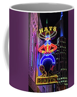Boots And Hat Neon Sign Coffee Mug