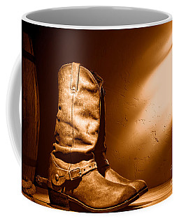Boots At The Hacienda - Sepia Coffee Mug
