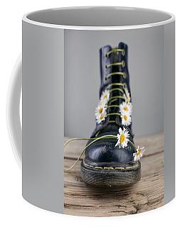 Boots With Daisy Flowers Coffee Mug