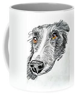 Border Collie Dog Colored Pencil Coffee Mug