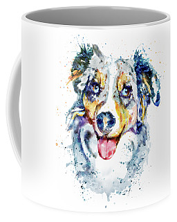 Coffee Mug featuring the mixed media Border Collie  by Marian Voicu
