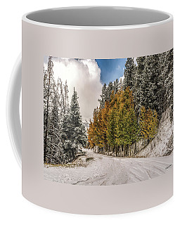 Boreas Pass Road Aspen And Snow Coffee Mug
