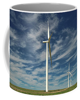 Coffee Mug featuring the photograph Borger Turbines by Scott Cordell