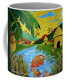 Coffee Mug featuring the painting Boriken by Oscar Ortiz