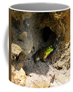 Coffee Mug featuring the photograph Boss Frog by Al Powell Photography USA