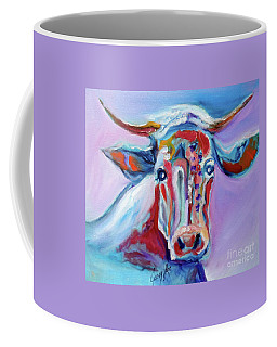 Coffee Mug featuring the painting Blue Elsie by Jenny Lee