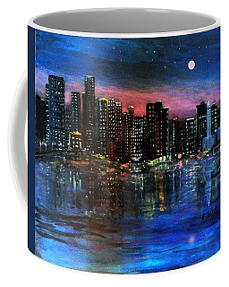 Boston At Night Coffee Mug