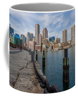 Boston Cityscape From The Seaport District 3 Coffee Mug