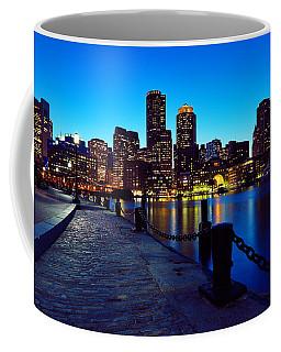 Boston Harbor Walk Coffee Mug by Rick Berk