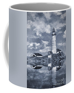 Coffee Mug featuring the photograph Boston Light  by Ian Mitchell