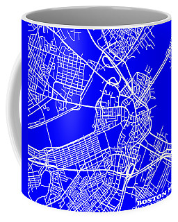 Boston Massachusetts City Map Streets Art Print   Coffee Mug