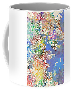 Boston Massachusetts Street Map Extended View Coffee Mug