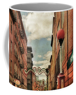 Coffee Mug featuring the photograph Boston North End by Joann Vitali