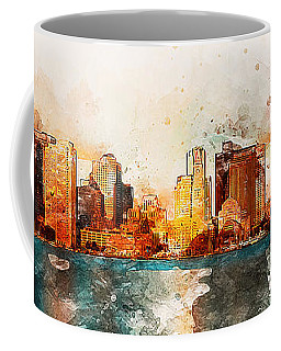 Boston, Panorama - 10 Coffee Mug