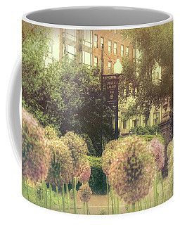 Boston Public Garden In Spring - Alliums Coffee Mug by Joann Vitali