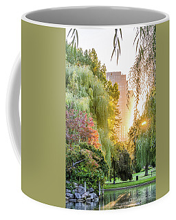 Boston Public Garden Sunrise Coffee Mug by Mike Ste Marie