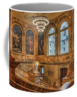 Coffee Mug featuring the photograph Boston Public Library Architecture by Joann Vitali