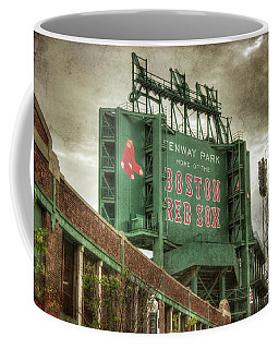 Coffee Mug featuring the photograph Boston Red Sox Fenway Park Scoreboard by Joann Vitali